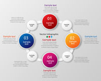 Colorful infographics template with steps, options. For infographic, banner, web design,presentation. Vector illustration Stock Photo