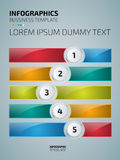 Colorful infographics or website layout template Stock Photo