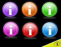 Colorful information icons Royalty Free Stock Photos