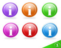 Colorful information icons Stock Photography