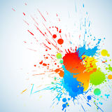 Colorful ink. Colorful bright ink splashes with place for text. Vector illustration royalty free illustration
