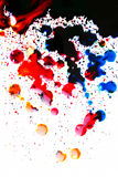Colorful ink blot on white. Background Royalty Free Stock Photography