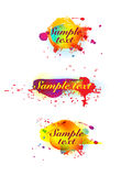 Colorful ink blots Royalty Free Stock Photography