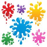 Colorful ink blots collection 1. Vector illustration royalty free illustration