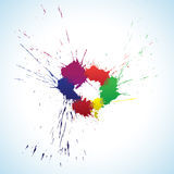 Colorful ink blots ring Stock Photography