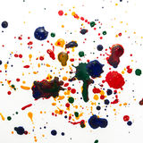 Colorful ink drops background Stock Photos