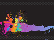 Colorful ink splash. Vector - Colorful ink splash drips on a canvas, for background use royalty free illustration