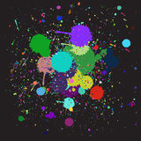 Colorful ink splash Royalty Free Stock Image