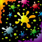 Colorful Ink Splash Set Royalty Free Stock Photos