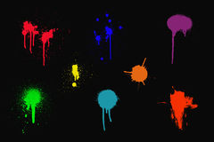 Colorful ink splashes Royalty Free Stock Photos