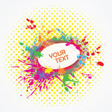 Colorful ink splashes with copyspace Royalty Free Stock Photos