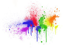 Colorful ink splashes Stock Photo