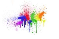 Colorful ink splashes Stock Photo