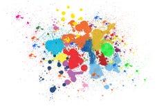Colorful ink splashes. On white background vector illustration