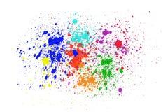 Colorful ink splashes. On white background royalty free illustration