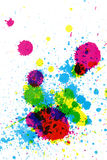 Colorful ink splatter. Ink drops in various colors Royalty Free Stock Photography