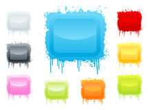 Colorful ink splatter board Royalty Free Stock Images