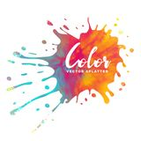 Colorful ink splatter watercolor background Royalty Free Stock Image
