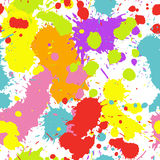 Colorful Ink Splatters Seamless Pattern. A seamless pattern of colorful ink splatters spraying in all directions Royalty Free Stock Photos