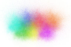 Colorful ink sprayed Royalty Free Stock Images