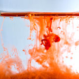 Colorful ink swirling in water Royalty Free Stock Photos