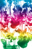 Colorful ink underwater Royalty Free Stock Images