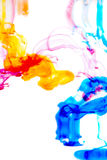 Colorful ink in water Stock Photography