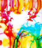 Colorful ink in water royalty free stock image