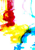 Colorful ink in water Stock Images
