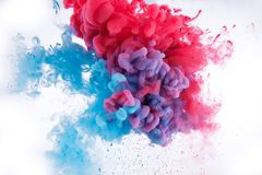 Colorful ink in water. Background royalty free stock photography