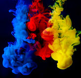Colorful ink in water Royalty Free Stock Photography