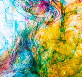 Colorful ink in water Royalty Free Stock Photos
