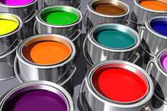Colorful inks (3D) Stock Images