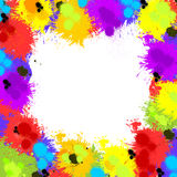Colorful inky splash frame border Royalty Free Stock Photos