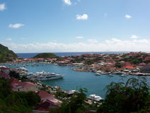 Colorful Inlet in St. Barts. View of a Colorful Inlet in St. Barts royalty free stock image