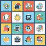 Creative Banking And Finance Icon Set stock illustration