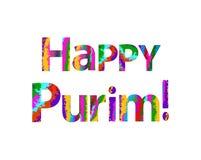 Colorful inscription Happy Purim. Vector illustration Royalty Free Stock Photo