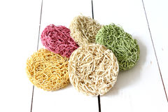 Colorful Instant noodle Stock Photography