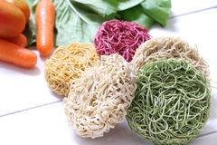 Colorful Instant noodle Royalty Free Stock Photo