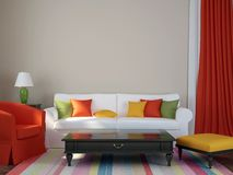 Colorful interior Stock Images
