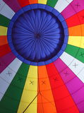 Colorful interior of a hot air balloon Stock Images