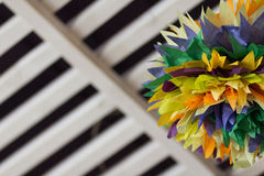 Colorful interior pom poms Royalty Free Stock Images