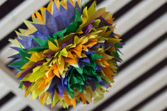 Colorful interior pom poms Royalty Free Stock Photo