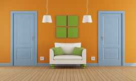 Colorful interior  doors and armchair Stock Photography