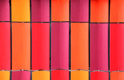 Colorful Interlocking Coloured Roof Tiles Stock Photography