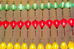 Colorful international lanterns Stock Photo