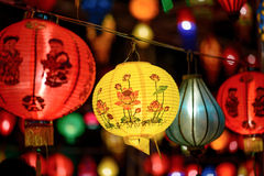 Colorful International Lanterns Royalty Free Stock Photography