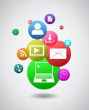 Colorful internet icons Royalty Free Stock Images