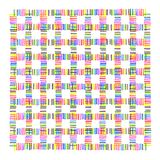 Colorful intersection dotted line pattern. On white background Royalty Free Stock Images