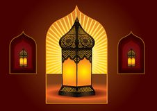 Colorful intricate arabic lantern Stock Image